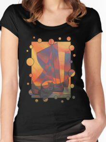 Red Sails In The Sunset Women's Fitted Scoop T-Shirt