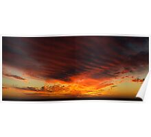 Sunset Ribs Poster