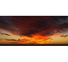 Sunset Ribs Photographic Print