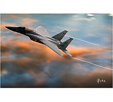 Eagle on High Photographic Print
