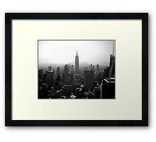 Gotham Skyline Framed Print