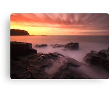 """""""Fractured Sunset"""" Canvas Print"""