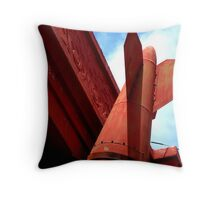 """""""Inexplicable Bomb as Building Ornament"""" Throw Pillow"""