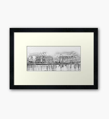 Battleground - Heinz Field Framed Print