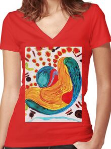 Bits and Pieces.. Women's Fitted V-Neck T-Shirt