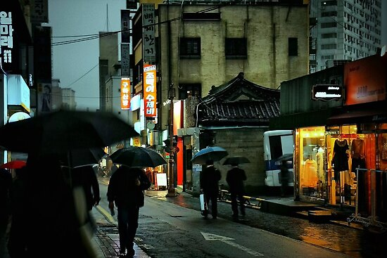 A Rainy Night in Seoul by Barbara  Brown