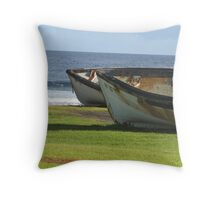 Longboats Throw Pillow
