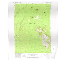 USGS Topo Map Oregon Indian Butte 280288 1982 24000 Poster