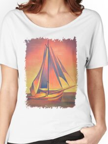 Sienna Sails At Sunset Women's Relaxed Fit T-Shirt