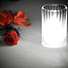 Candlelit Rose Selective Colouring by Zachary Golus