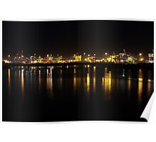 Port Botany in Darkness Poster