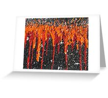 Volcanic Fire Greeting Card