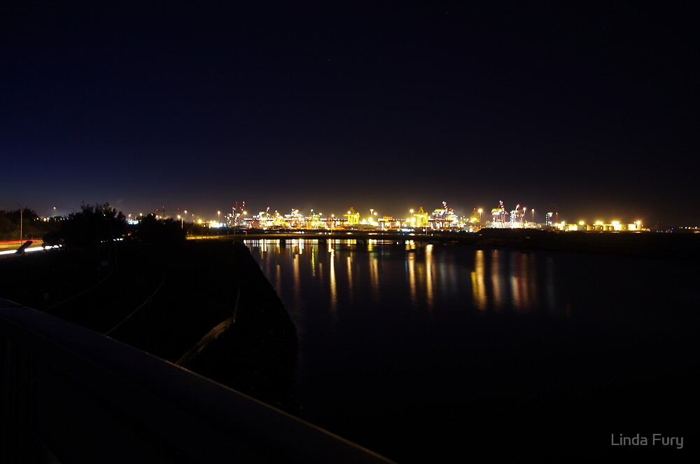 First Light - Port Botany by Linda Fury