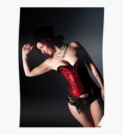 Red Corset Poster