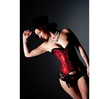 Red Corset Photographic Print