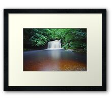 10 Minutes At West Burton Falls. Framed Print