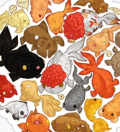 For The Love Of Goldfish Sticker