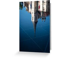 Marble Blue Symmetry Greeting Card