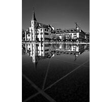 Black Marble Symmetry Photographic Print