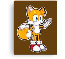 Mini Tails The Fox Canvas Print