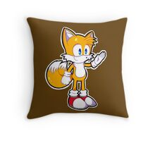 Mini Tails The Fox Throw Pillow