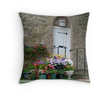 Pots of Colour Throw Pillow