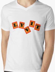 LyvitBlocks Mens V-Neck T-Shirt