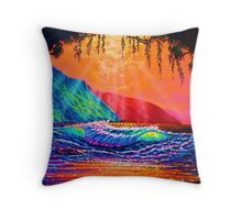 Lava Tube Fantasy in Gold Throw Pillow
