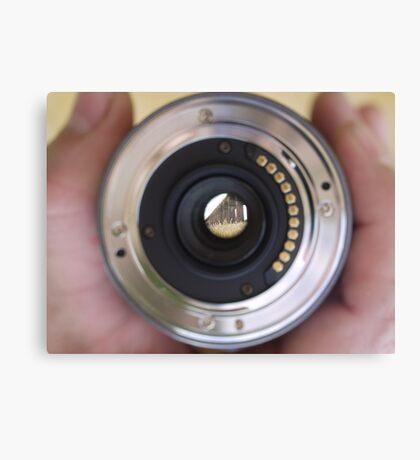 View through a lens Canvas Print