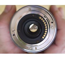 View through a lens Photographic Print