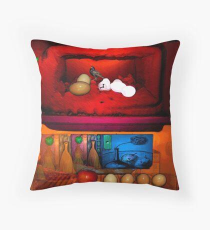 Rothko Refrigerator Squared Throw Pillow
