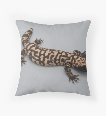 Goliath The Gila Monster Throw Pillow