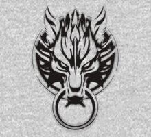 Cloud Strife's Wolf Emblem (Black) Baby Tee