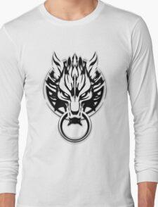 Cloud Strife's Wolf Emblem (Black) Long Sleeve T-Shirt