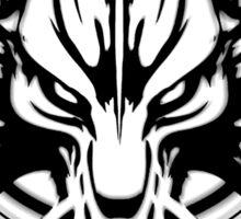 Cloud Strife's Wolf Emblem (Black) Sticker