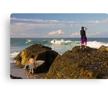 Surfing photographer at work Canvas Print