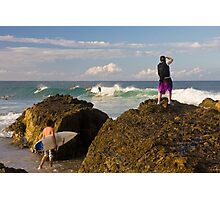 Surfing photographer at work Photographic Print