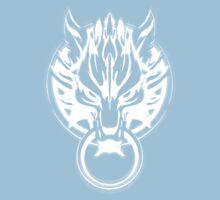 Cloud Strife's Wolf Emblem (White) Kids Clothes