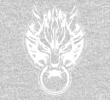 Cloud Strife's Wolf Emblem (White) One Piece - Short Sleeve