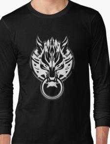 Cloud Strife's Wolf Emblem (White) Long Sleeve T-Shirt