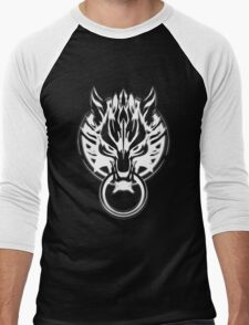 Cloud Strife's Wolf Emblem (White) Men's Baseball ¾ T-Shirt