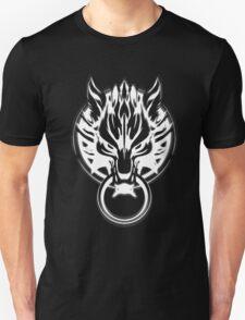 Cloud Strife's Wolf Emblem (White) Unisex T-Shirt