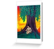The Woman in the Woods Greeting Card
