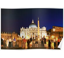 Night-time in Vatican City Poster