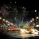 Bourke St, Melbourne, 9:25pm 20 July 2011 by Geoffrey Dunn