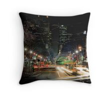 Bourke St, Melbourne, 9:25pm 20 July 2011 Throw Pillow