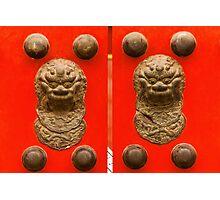 The Forbidden City - Series A - Doors & Windows 4 Photographic Print