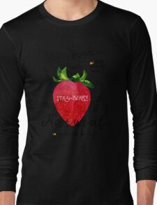 Watercolor strawberry Long Sleeve T-Shirt