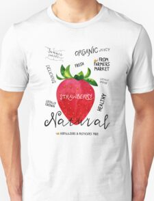 Watercolor strawberry Unisex T-Shirt