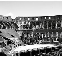 Inside The Colosseum by Ruth Smith
